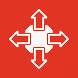The navigation icon. Arrows symbol. Flat Royalty Free Stock Photography