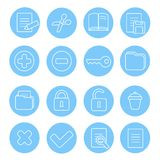 Navigation icon and buttons set.   illustration of Royalty Free Stock Images