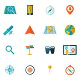 Navigation icon flat set Stock Photography