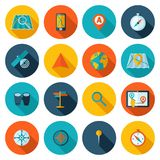 Navigation icon flat set Royalty Free Stock Photos
