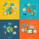 Navigation icon flat set stock illustration