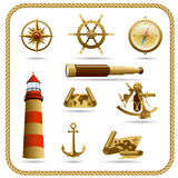 Navigation icon set Royalty Free Stock Images