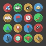 Navigation Icon Set Stock Image