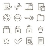 Navigation icon set.  illustration of different Royalty Free Stock Photography