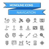 Navigation icon set Royalty Free Stock Photography