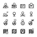 Navigation icon set, vector eps10 Royalty Free Stock Photos