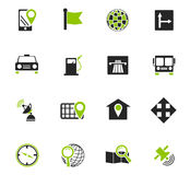 Navigation icon set. For web sites and user interface Stock Photo