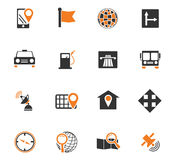 Navigation icon set. For web sites and user interface Royalty Free Stock Photography