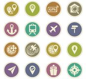 Navigation icon set. For web sites and user interface Royalty Free Stock Images