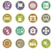 Navigation icon set. For web sites and user interface Royalty Free Stock Photo