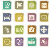 Navigation icon set. For web sites and user interface Royalty Free Stock Photos