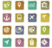 Navigation icon set. For web sites and user interface Royalty Free Stock Image