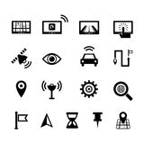Navigation Icon set Royalty Free Stock Image