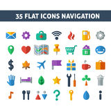 Navigation icons Royalty Free Stock Image