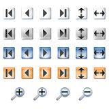 Navigation icons. Icon set for integration in the GUI of custom application and/or in WEB sites Stock Photography