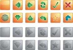 Navigation icons Stock Image