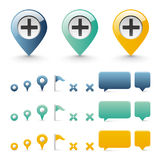 Navigation icons Royalty Free Stock Photography