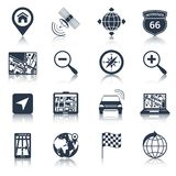 Navigation Icons Black Stock Photography