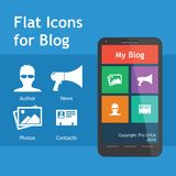 Navigation Icons for Blog Royalty Free Stock Photos