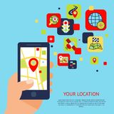 Navigation icons concept Stock Photography