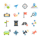 Navigation Icons Flat Design Stock Images