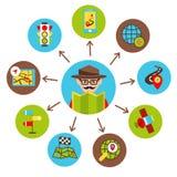Navigation icons illustration Stock Image