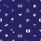 Navigation icons pattern eps10 Royalty Free Stock Images