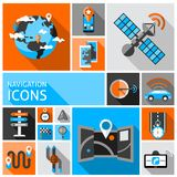 Navigation Icons Set Royalty Free Stock Photo