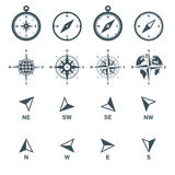 Navigation icons set Stock Photos
