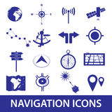 Navigation icons set eps10 Stock Images