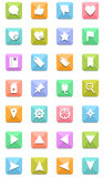 Navigation icons set Stock Photo