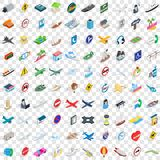 100 navigation icons set, isometric 3d style Royalty Free Stock Photo
