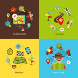 Navigation icons set Royalty Free Stock Images