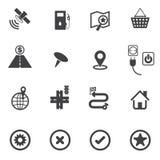 Navigation icons set Royalty Free Stock Image