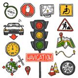 Navigation Icons Sketch Stock Photo