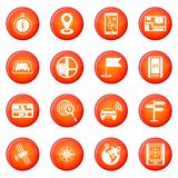 Navigation icons vector set Royalty Free Stock Photos