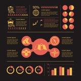 Navigation infographic icons Stock Image