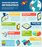 Navigation infographic isometric layout chart Royalty Free Stock Photos