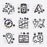 Navigation infographic Stock Photography