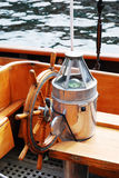 Navigation instruments of antique yacht Royalty Free Stock Image