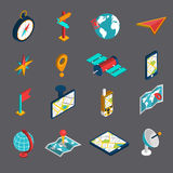 Navigation Isometric Icon Set royalty free illustration