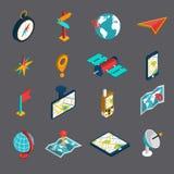 Navigation Isometric Icon Set Stock Image