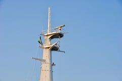 Navigation, Kommunikation und Schutzausrüstung auf Schiff Lizenzfreie Stockfotos