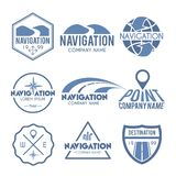 Navigation Label Grey Stock Images