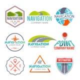 Navigation Label Set Stock Photography