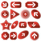 Navigation Label Set - Red Stock Photos