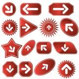 Navigation Label Set - Red Stock Photos