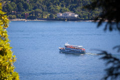 Navigation On Lake Como in Summer Stock Photography