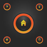 Navigation light buttons eps10. Navigation light red buttons eps10 Royalty Free Illustration