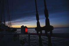 Navigation light of a ship Stock Photo